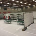 Crisisopvang in sporthal Bocholtz
